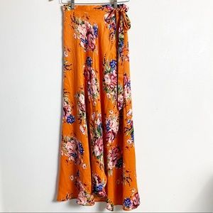 🆕 Band of Gypsies boho Lulu floral wrap skirt